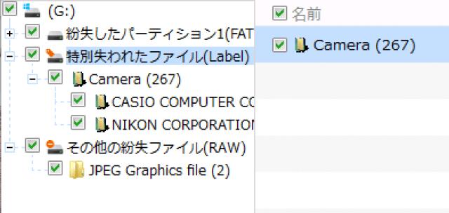 特別失われたファイルをデータ復旧