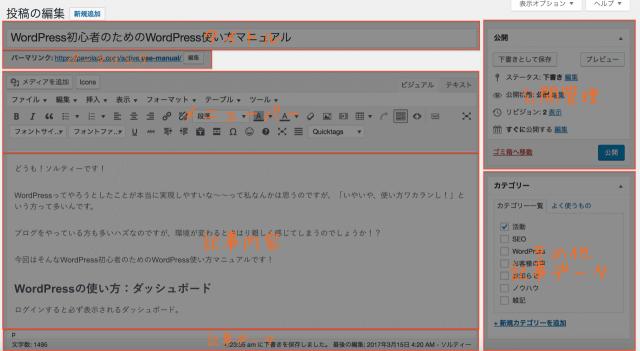 WordPress使い方 投稿