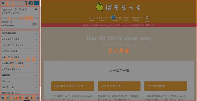 WordPress使い方 カスタマイズ