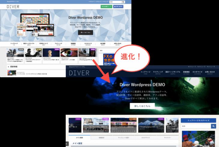 WordPress 有料テーマ:DIVERの進化は止まらない