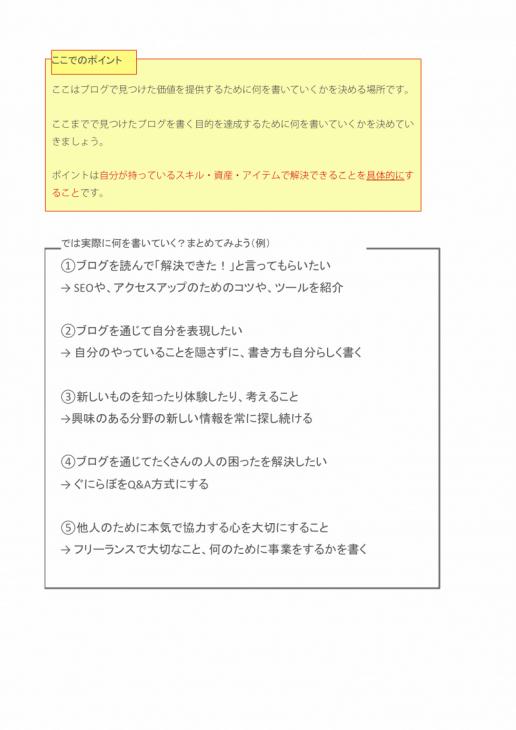 オリジナリティ作成ワークシート