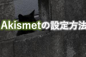 Akismetの設定方法