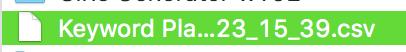 seoキーワード:CSVファイルのダウンロード
