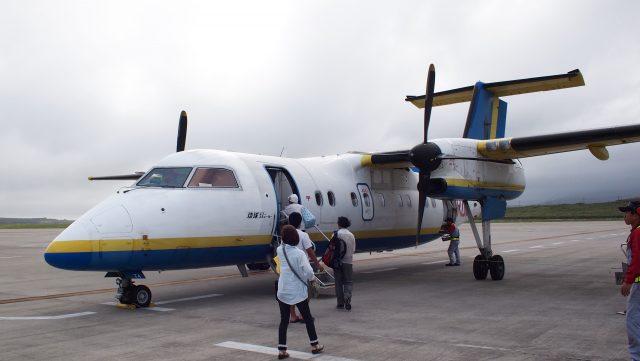 女性ひとり旅:与那国行きの飛行機