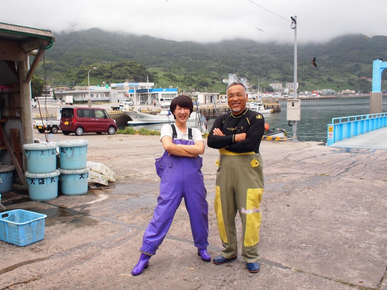 バスに乗り遅れたから出逢えた、下甑島のタカエビ漁師さんと観光案内所のお姉さん